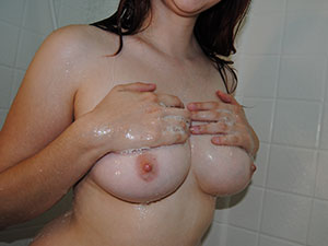 Getting Huge Boobs All Rinsed Off